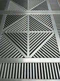 Metalu Grille pokrywy zdjęcie stock