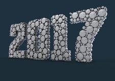 Metalu kalendarzowy tło dla 2017 Obraz Stock