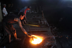 Metalu kasting Obraz Stock