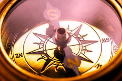Metalu kompas zdjęcie stock