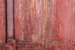 Metalu korodowanie - zrudziały tekstury tło Fotografia Stock