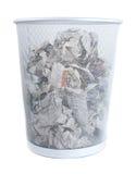 Metalu kosz na śmieci Zdjęcia Royalty Free