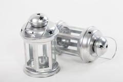 Metalu lampion dla herbacianej świeczki Obraz Stock