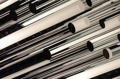 Metalu lampowy właściciel w tekstury sztuce z światłem i cieniami Obraz Stock