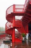 Metalu Ślimakowaty schody Obrazy Royalty Free