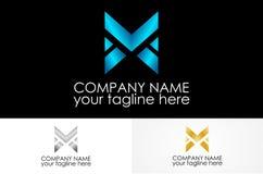 Metalu listowy logo zdjęcie royalty free