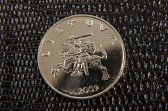 Metalu litwinu moneta Zdjęcia Royalty Free