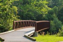 Metalu most na ścieżce Fotografia Stock