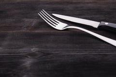 Metalu nóż i rozwidlenie Zdjęcie Stock