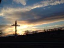 Metalu niebo i krzyż obrazy royalty free