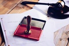 Metalu notariusza społeczeństwa atramentu stemplówka obrazy royalty free