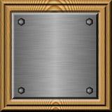 metalu obramiający talerz Obraz Stock