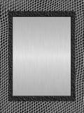 metalu oczyszczony talerz Zdjęcia Stock
