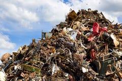 Metalu odpady Zdjęcie Royalty Free
