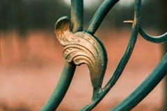 Metalu ogrodzenia ornamentu abstrakta wzoru element Zdjęcia Stock