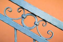 Metalu ogrodzenia ornamentu abstrakta wzoru element Fotografia Stock