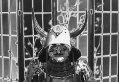 Metalu opancerzenie antyczny samuraja wojownik antyczne tradycje, royalty ilustracja