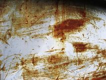 metalu panel rdzewiejący drapającym Zdjęcie Stock