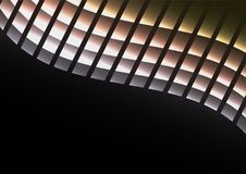 Metalu piksla krzywy abstrakcjonistyczny tło Obrazy Stock