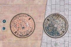 Metalu Pokrywkowy Odgórny widok Obraz Royalty Free