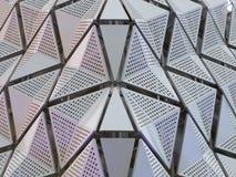 Metalu powlekanie na budynku obrazy royalty free