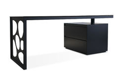 Metalu projekta stołu biurko Zdjęcia Royalty Free