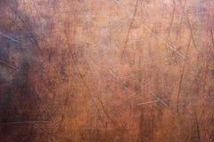 Metalu prześcieradło obdzierał, tekstura miedziany stary talerz Zdjęcie Stock
