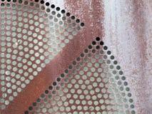Metalu prześcieradło z kurenda wzorem zdjęcie stock