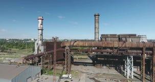 Metalu przemysłu rośliny anteny strzał zdjęcie wideo
