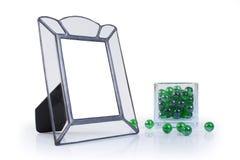 metalu ramowy szklany obrazek Zdjęcia Stock