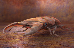 Metalu robota insekt rdzewiejący, 3D ilustracja Zdjęcie Stock