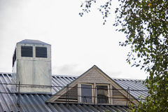 Metalu Rosja dachowy budynek Obraz Royalty Free