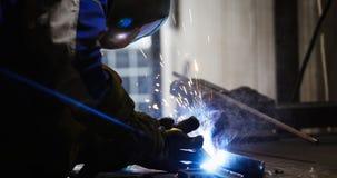Metalu rozcięcie z acetylenową pochodnią w przemysle obraz royalty free