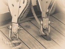Metalu schronienia marina duży rygiel z arkaną Fotografia Royalty Free