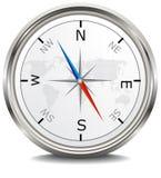 Metalu srebny kompas Obrazy Stock