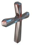 Metalu srebra krzyż Zdjęcie Stock