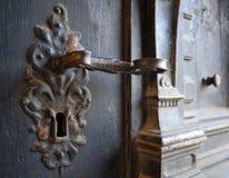 Metalu stary door-handle obrazy royalty free