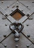 Metalu stary door-handle fotografia stock