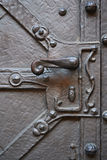 Metalu stary door-handle obraz stock