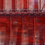 Metalu stary ogrodzenie. Fotografia Stock