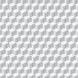 Metalu sześcianu bezszwowy deseniowy czarny i biały Obraz Stock