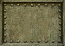 Metalu talerz Z nitami Zdjęcie Royalty Free