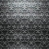 Metalu talerz z rzeźbiącym wzorem Obrazy Stock