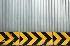 Metalu talerza betonowa przeszkoda i ogrodzenie Zdjęcie Royalty Free