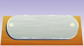 metalu talerza realistyczny drewno Zdjęcie Royalty Free