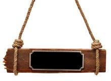 metalu talerza signboard drewno Obraz Stock