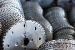 Metalu tnącego ostrza zbliżenie zdjęcie stock