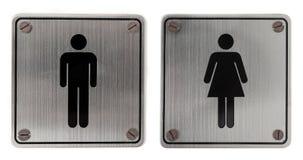 metalu toalety znaki Zdjęcie Stock