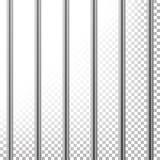 Metalu więzienie Zakazuje wektor Odizolowywający na przejrzystym tle Realistyczny Stalowy Pokey, Więźniarska siatki ilustracja Fotografia Stock