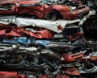 Metalu świstka jarda Zdruzgotani samochody Obrazy Royalty Free